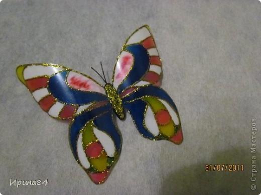 Бабочки из пластиковых бутылок фото 4