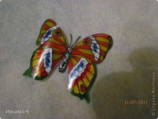 Бабочки из пластиковых бутылок фото 5
