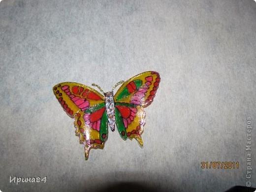 Бабочки из пластиковых бутылок фото 6