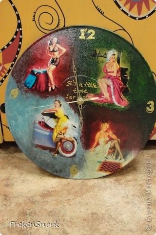 """часы """"pin up"""" фридекор и мишки в детскую фото 1"""