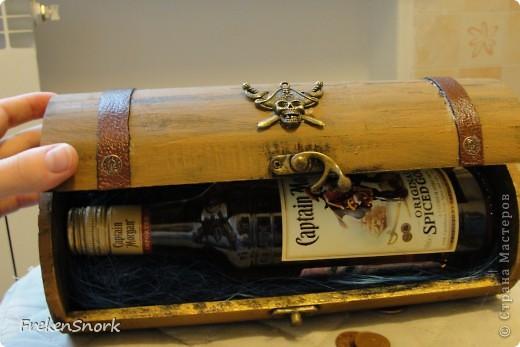ещё чуть чуть про пирата, кофр для бутылки фото 2