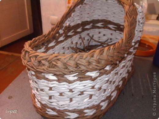 """Родилась племяшка, а для нее """"родилась"""" корзинка для пампесов на пеленальный столик. фото 2"""