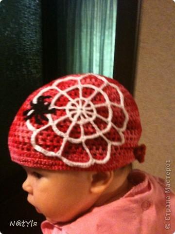 вот такую банданку связала своей ляльке,когда ей было еще 2 месяца,уже перевязывала,т.к. головка растет,а от банданки все в восторге))сейчас нам 5 - носим с удовольствием))) фото 2