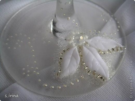 Свадебные бокал по мотивам платья невесты фото 6