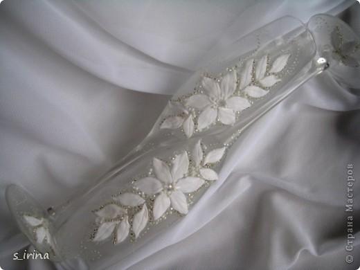 Свадебные бокал по мотивам платья невесты фото 9