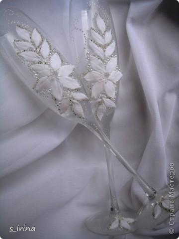 Свадебные бокал по мотивам платья невесты фото 10