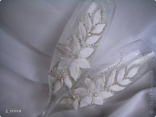 Свадебные бокал по мотивам платья невесты фото 2