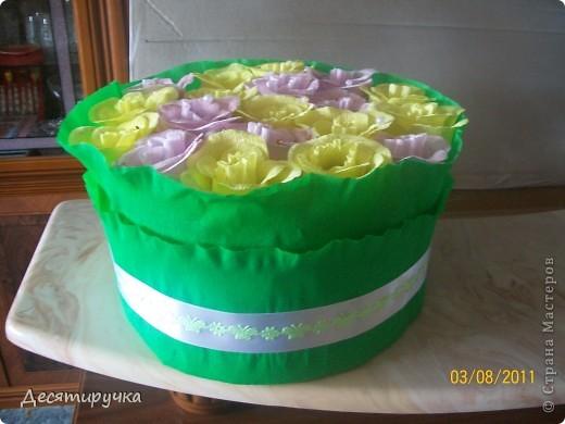 с виду обычный конфетный букет или торт ( как вам будет угодно) фото 1
