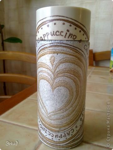 Баночка для кофе. Вид спереди. фото 3