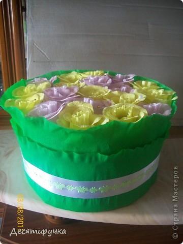 с виду обычный конфетный букет или торт ( как вам будет угодно) фото 2
