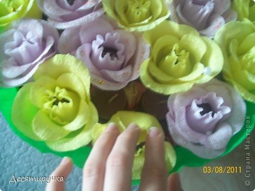 с виду обычный конфетный букет или торт ( как вам будет угодно) фото 6