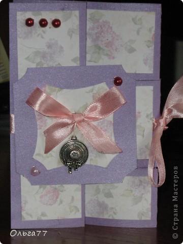 Решила попробовать сделать открытку на день рождение подруги. Время поджимало. Управилась за пару часов. Спасибо Аскина за прекрасную идею для открытки.http://stranamasterov.ru/node/159804 фото 1