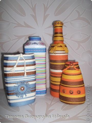 Доброго дня всем жителям СМ! На создание таких бутылочек меня вдохновили работы Маши Лапиной. Ей огромное спасибо за идею! А что у меня получилось судить вам.  фото 1