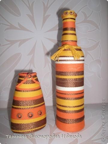 Доброго дня всем жителям СМ! На создание таких бутылочек меня вдохновили работы Маши Лапиной. Ей огромное спасибо за идею! А что у меня получилось судить вам.  фото 4