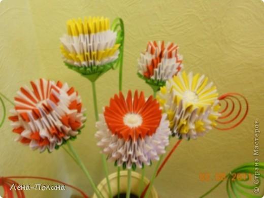 Цветы. Оригами модульное фото 2