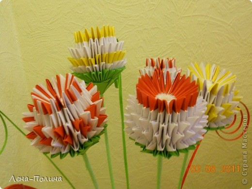 Цветы. Оригами модульное