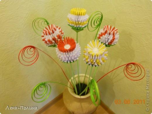 Цветы. Оригами модульное фото 3
