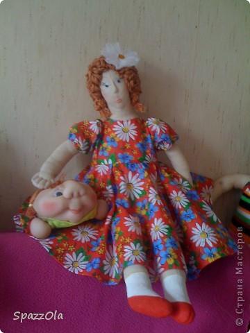 была у меня такая вот дама http://stranamasterov.ru/node/195180 решила ее изменить немного фото 2