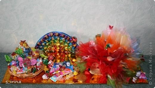 Ежик из конфет фото 1