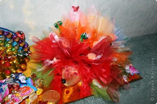Ежик из конфет фото 3
