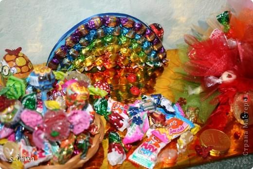 Ежик из конфет фото 4