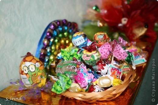 Ежик из конфет фото 5