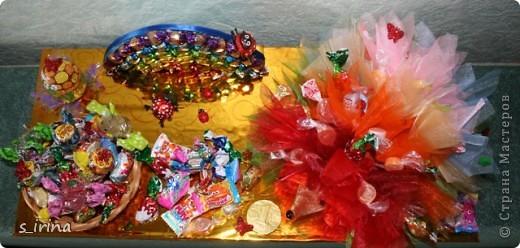 Ежик из конфет фото 6