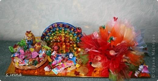 Ежик из конфет фото 13