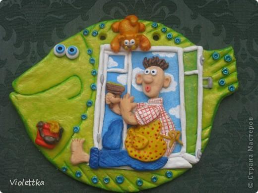 Рыба мечта женщины Папа моет окно (повторюшка по мотивам Люсинэ, спасибо большое за вдохновение) фото 1