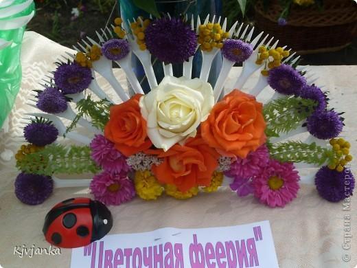 веер с живыми цветами