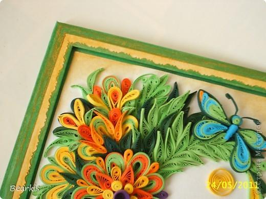 """""""Цветя и пеперуди""""-детайл с пеперуда,долен десен ъгъл фото 3"""