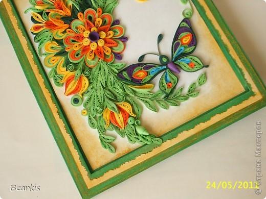"""""""Цветя и пеперуди""""-детайл с пеперуда,долен десен ъгъл фото 2"""