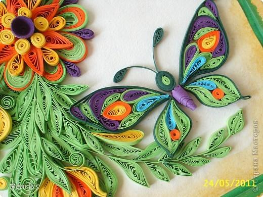 """""""Цветя и пеперуди""""-детайл с пеперуда,долен десен ъгъл фото 1"""