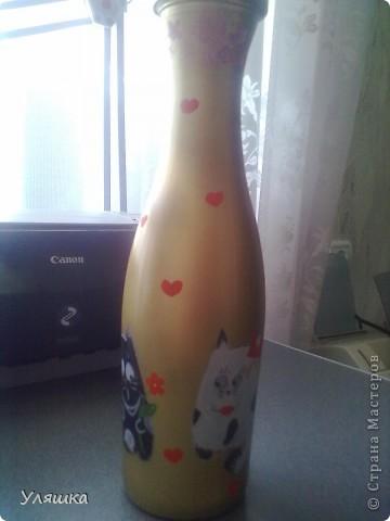 Расписная бутылка:) фото 1
