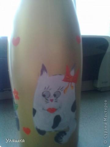 Расписная бутылка:) фото 3