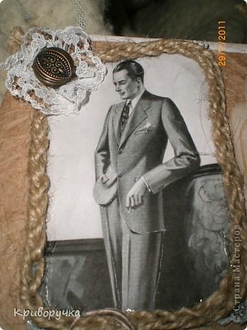 Моя первая мужская открытка! Надеюсь моему папочке понравится! фото 3