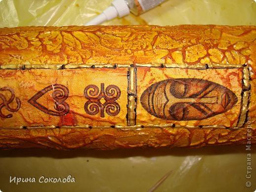 Очень долго лежала у меня салфетка с африканским мотивом, но всё не было случая её применить. фото 8