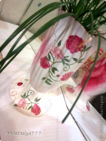 Вот таким стал обычный белый горшочек для цветов, однажды попав мне на глаза, во время обычного везита в гости:))) фото 2