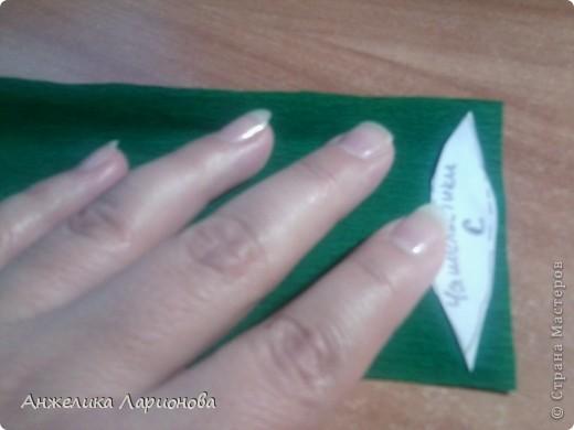 Вам потребуется:  Цветная гофрированная бумага – для цветка;  Зелёная гофрированная бумага – для чашелистиков и листьев;  Проволока «волосы ангела»;  Металлический стебель, шпажка (зубочистка).  Шаблоны лепестков (А и В), чашелистика (С) и листа (Д) фото 11