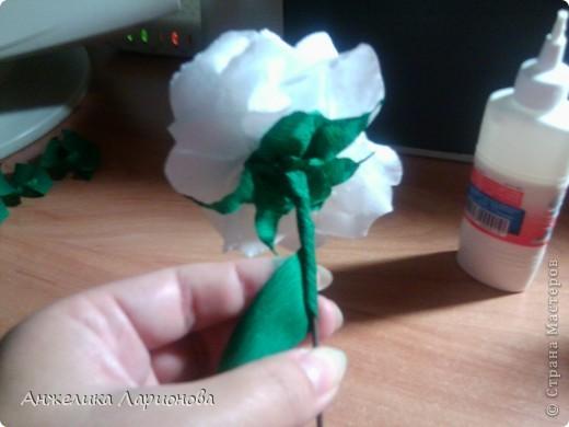 Вам потребуется:  Цветная гофрированная бумага – для цветка;  Зелёная гофрированная бумага – для чашелистиков и листьев;  Проволока «волосы ангела»;  Металлический стебель, шпажка (зубочистка).  Шаблоны лепестков (А и В), чашелистика (С) и листа (Д) фото 16