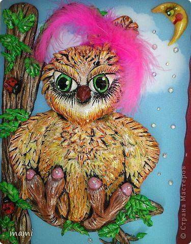 Добрый вечер, всем!!! Вот такую сову сделала на заказ любительнице этих благородных птиц. фото 3