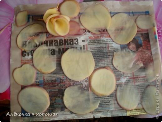 Вот такие красивые розочки получились у меня из обычного картофиля!!!!  фото 3