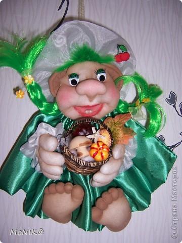 Вот такая вот куколка получилась....похожа на хулиганку. )) Помогите имя подобрать... у меня ничего в голову не приходит )) фото 1