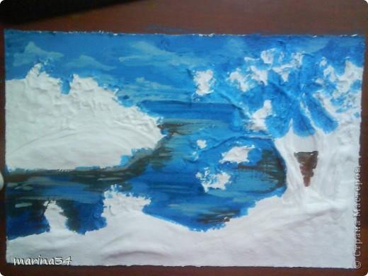 рисунок из соленого теста приклеиваем клеем пва на двп,ждем когда высохнет,затем... фото 3