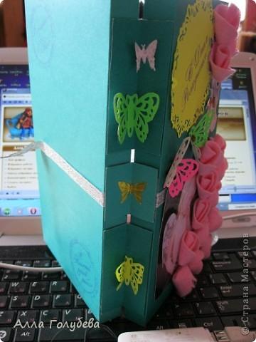 Подарок для дочки подруги.Юле очень нравится голубой цвет,вот и пришло в голову такое... фото 6