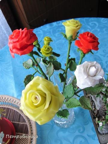 Вот вчера сваяла еще розу. фото 4