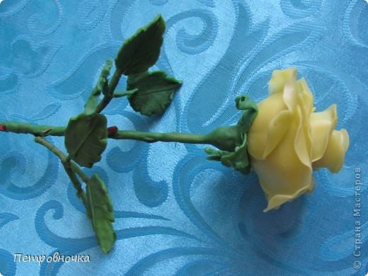 Вот вчера сваяла еще розу. фото 2