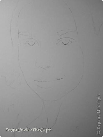 Набросок. Первая стадия портрета. фото 1