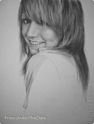 Первая стадия портрета. фото 2
