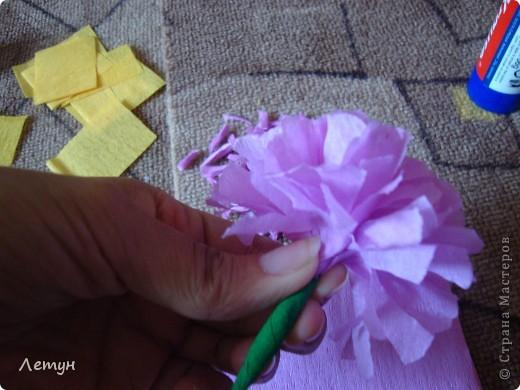 """Цветы из гофрированной бумаги. У сестры свадьба, сделала для выкупа, т.к. тематика выкупа """"Цветочный магазин"""". фото 13"""